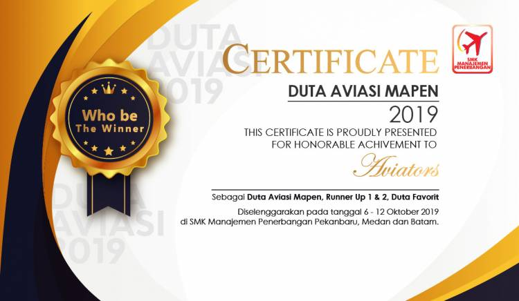 Jadilah pemenang yang menginspirasi, Duta Aviasi Mapen 2019